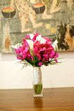 Wedding bouquet flower on table Royalty Free Stock Images
