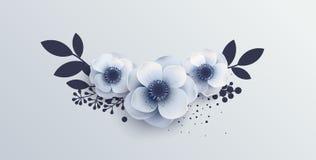 Wedding Bouquet of flowers anemones. Stock Photo