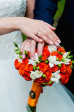 Wedding bouquet of flowers. Beautiful flowers for a wedding bouquet Royalty Free Stock Photo