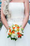 Wedding bouquet of flowers. Beautiful flowers for a wedding bouquet Stock Photo