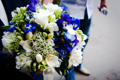 Wedding bouquet of flowers. Beautiful flowers for a wedding bouquet Stock Photos