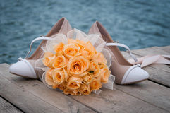 Wedding bouquet of flowers. Beautiful flowers for a wedding bouquet Royalty Free Stock Image
