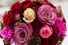 Wedding bouquet of flowers. Beautiful flowers for a wedding bouquet Stock Images