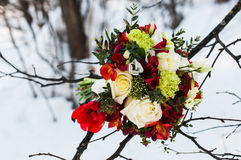 Wedding bouquet of flowers. Beautiful flowers for a wedding bouquet Stock Photography