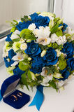 Wedding bouquet of flowers. Wedding bouquet for the bride Stock Image