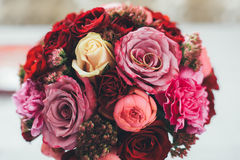 Wedding bouquet of flowers. Wedding bouquet for the bride Royalty Free Stock Images