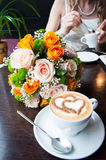 Wedding bouquet of flowers. Wedding bouquet for the bride Royalty Free Stock Image