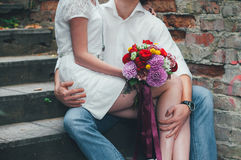 Wedding bouquet of flowers. Wedding bouquet for the bride Royalty Free Stock Photography