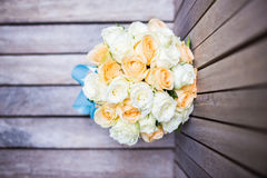 Wedding bouquet flowers. On the floor stock photo
