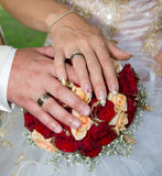 Wedding bouquet with flowers Royalty Free Stock Image