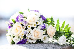 Wedding bouquet of flowers royalty free stock image