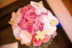 Wedding bouquet, flowers, roses, beautiful in home Royalty Free Stock Photo
