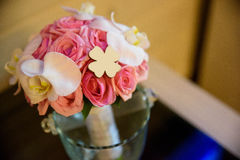Wedding bouquet, flowers, roses, beautiful in home Stock Image