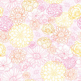 Wedding bouquet flowers seamless pattern Royalty Free Stock Photos