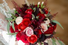Wedding bouquet of flowers stock images