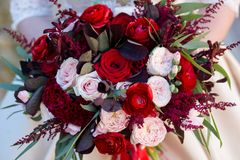 Wedding bouquet of flowers stock image