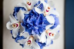 Wedding bouquet of flowers royalty free stock photo