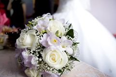 Wedding bouquet of flowers royalty free stock photography