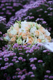 Wedding bouquet on flowery meadow Stock Images