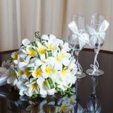 Wedding bouquet of frangipani Royalty Free Stock Image