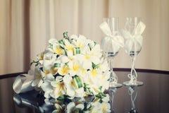 Wedding bouquet of frangipani Stock Image