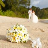 Wedding bouquet frangipani Stock Images