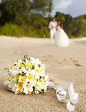 Wedding bouquet frangipani Stock Images
