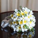 Wedding bouquet of frangipani Stock Images