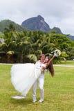 Wedding bouquet of frangipani Stock Photo