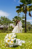 Wedding bouquet of frangipani Stock Photography