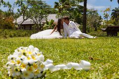Wedding bouquet of frangipani Royalty Free Stock Photography