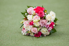 Wedding bouquet. On the grass Stock Images