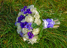 Wedding bouquet on the  grass Royalty Free Stock Photos