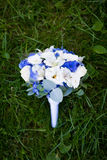 Wedding bouquet on the green grass Royalty Free Stock Photo
