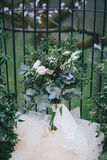 Wedding bouquet in green and white colours Stock Photos