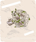 Wedding bouquet. Hand drawn illustration Royalty Free Stock Photos