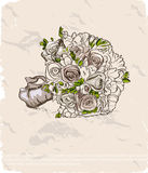 Wedding bouquet. Hand drawn illustration Stock Images