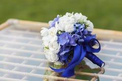 Wedding bouquet of hydrangea, eucharis and eustoma Royalty Free Stock Photography