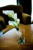 Wedding bouquet inside clear vase Royalty Free Stock Photos