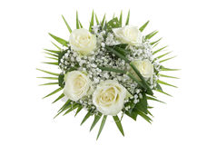 Wedding Bouquet. Isolated on white background Royalty Free Stock Photo