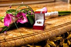 Wedding bouquet of kalas. Royalty Free Stock Photography