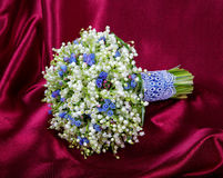 Wedding bouquet from lilies of the valley Royalty Free Stock Images