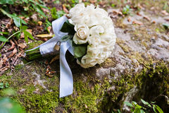 Wedding bouquet with lock Stock Photo
