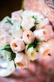 Wedding bouquet lying on chair Stock Image