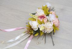 Wedding bouquet made by hands Stock Photo
