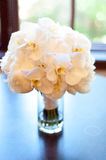 Wedding Bouquet. Made with orchids in a Glass Vase Royalty Free Stock Images