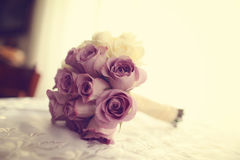 Wedding bouquet made of roses Stock Photo