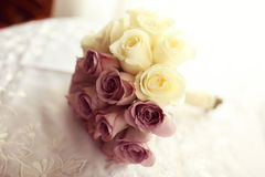 Wedding bouquet made of roses Stock Image
