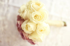 Wedding bouquet made of roses Royalty Free Stock Images