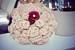 Beautiful bouquet, bridal bouquet, flowers of the bride stock photo